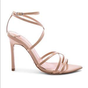 Tony Bianco Marcy Heel Sandal Nude Patent 9